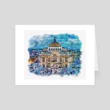 Palacio de Bellas Artes - Mixed Media - Art Card by Dreamframer