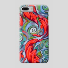 Psychedelic fish - Phone Case by federico cortese