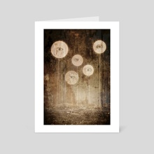 Eyesticks - Art Card by Drew Fiddy