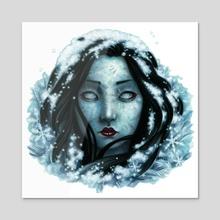Yuki-onna - Acrylic by Elisabeth Alba