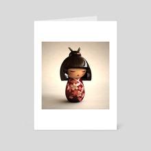 Kokeshi 02 - Art Card by Heidy Curbelo García