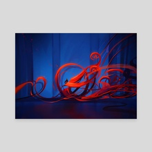 Red Blue Dance - Canvas by Phil Dragash