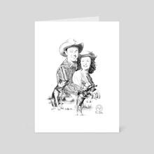 Roy Rogers and Dale Evans  - Art Card by Joe Adiletta