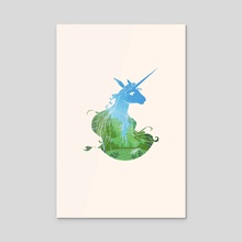 The Last Unicorn - Acrylic by Kathy Yang