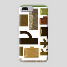 My Collection of Wood - Phone Case by Onno Knuvers