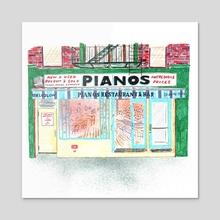 Pianos - Acrylic by Joel Holland