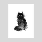 cat002 - Art Print by Heera Cha