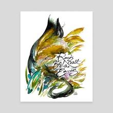 Reeds Beneath the Eaves (Genjimonogatari series) - Canvas by Maiji/Mary Huang
