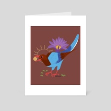 Familiar: Sri Lanka Blue Magpie - Art Card by Reimena Yee