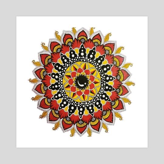 Mandala art 1 by Sukhendu Mondal