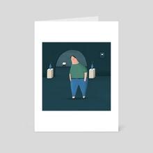 Sad Lad 3000 - Art Card by Dale Crosby-Close