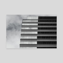 Building Reflection - Canvas by Sara Trejo