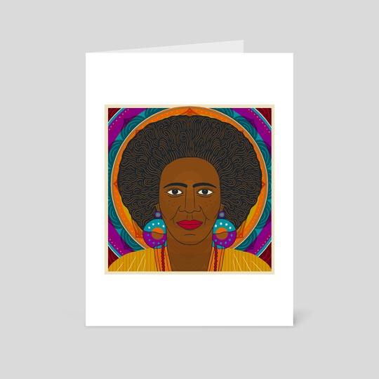 Portrait of Alice Coltrane by Caitlin Keegan