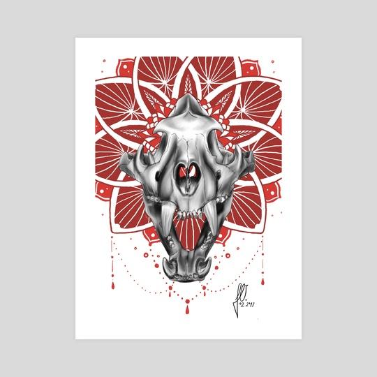 Tiger Skull by Julie Overmann