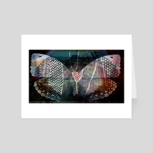 grunge butterfly  tatoo - Art Card by Charles Taylor