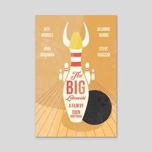 Alternative Big Lebowski movie print - Acrylic by Fer Ojea