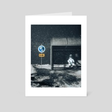 Waiting for a ride - Art Card by Dhruvil Bhayani