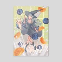 Witch lady - Acrylic by Sachi ko