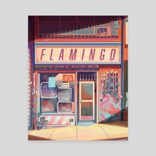 Flamingo Electronics - Canvas by Geneva Bowers