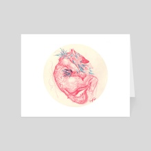 pink wolf - Art Card by Amy Elizabeth