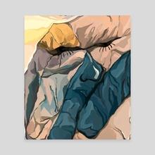 Disgruntled Comforter - Canvas by Ameena Muhammad