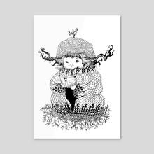 Hermit - Acrylic by Ma. Luisa Gonzaga