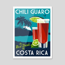 costa rica chili guaro - Acrylic by matt schnepf
