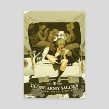 Clone army Sally - Canvas by MinJung Kang
