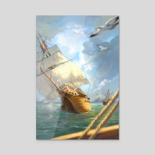 The Sinking of the Mary Rose - 1545 - Acrylic by Kristina Gehrmann