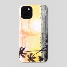 Sunset beach II - Phone Case by Miguel Guzmán