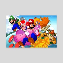 Super Mario 3D World - Canvas by D.J. Kirkland