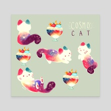Cat Cosmos Star - Canvas by Nadia Kim