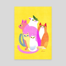 Hidden cats 003 - Canvas by Heera Cha