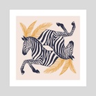Zebras - Art Print by Ash Weaver