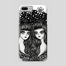 Gemini, The Twins - Phone Case by Jacque Tiongco