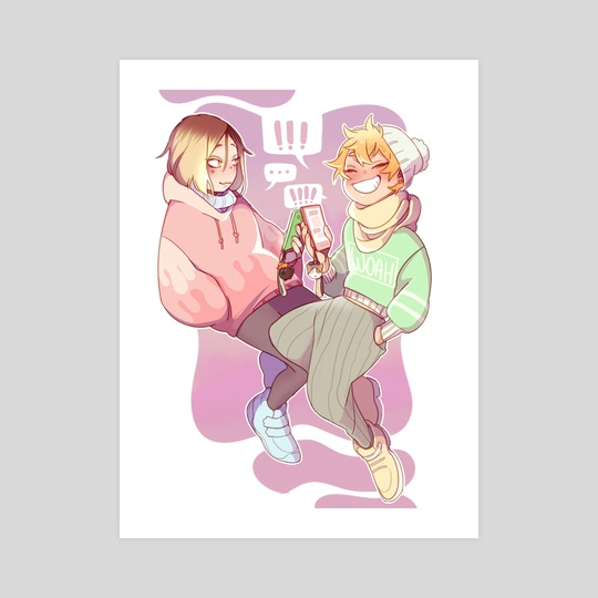 Texting Duo Kenhina by Mochii Jax