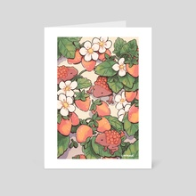 Cherry Frogs - Art Card by cafhune