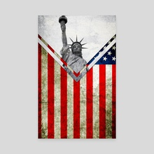 Flag - USA - Canvas by Alexandre Ibáñez