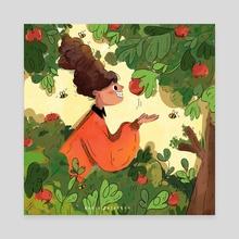 Orchard ! - Canvas by Nadia Bazargan