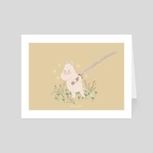 Moomin with a Sword - Art Card by Grace Kim