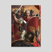 Julius Caesar in the Battle of Munda - Canvas by Sandra Delgado