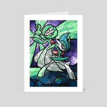 Stained Glass - Gardevoir and Gallade - Art Card by Nicole Castanheira