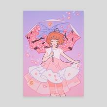 Sakura Umbrella - Canvas by Meyoco