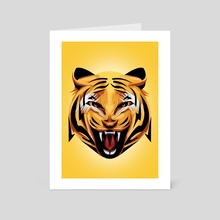 Tora Tiger - Art Card by Muhammad Sidik