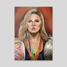 Ronda Rousey - Acrylic by Danilo Almeida