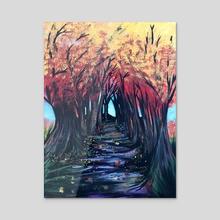 Autumn Day - Acrylic by adam santana