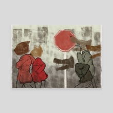 Catcalling - Canvas by Annette Elizabeth