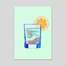 Lemonade - Acrylic by STUDIOMIKLUS