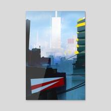 Mirror's Edge City - Acrylic by Yakovlev Art