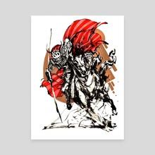 Samurai Red Copper 1 - Canvas by Kekai Kotaki